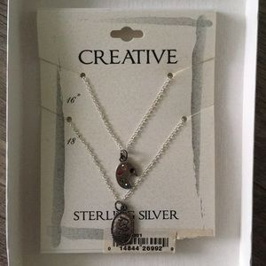 Jewelry - Sterling silver double layer necklaces 🎨